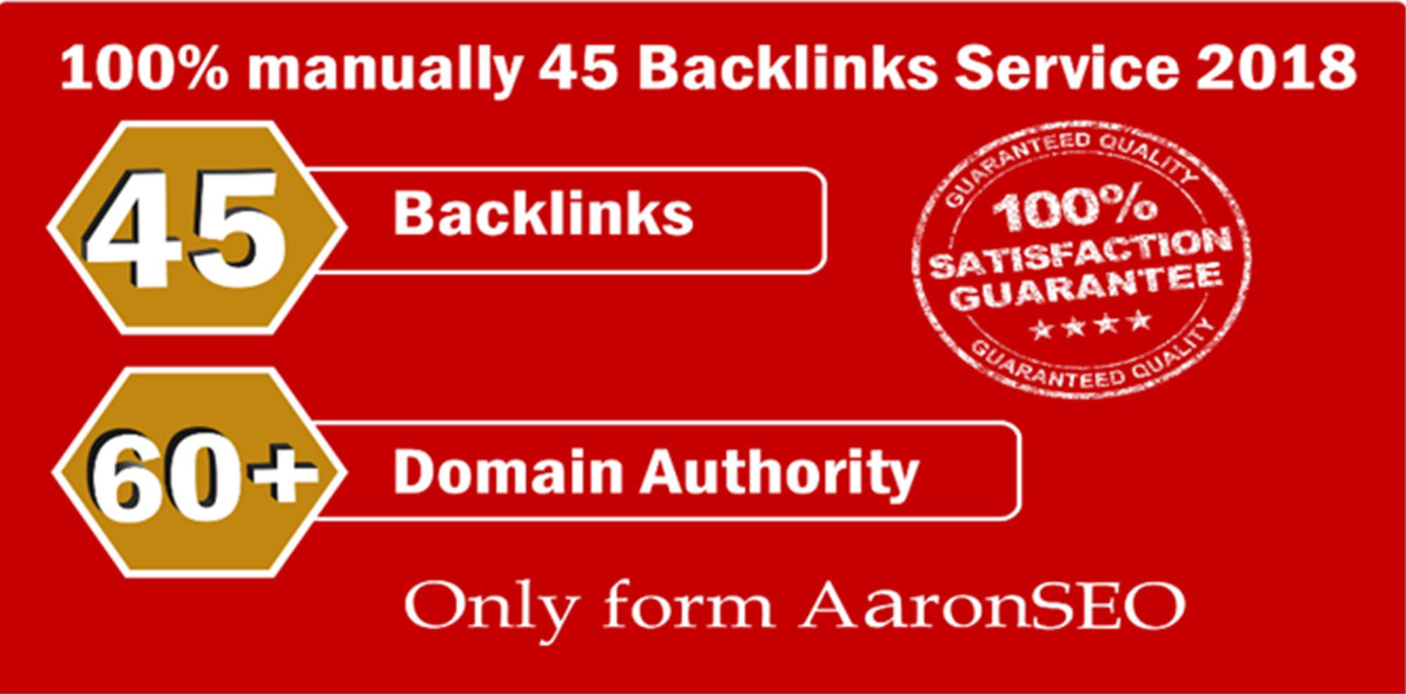 Limited Time Offer - 45 Backlinks from High DA-60+ Domains-Skyrocket your Google RANKING