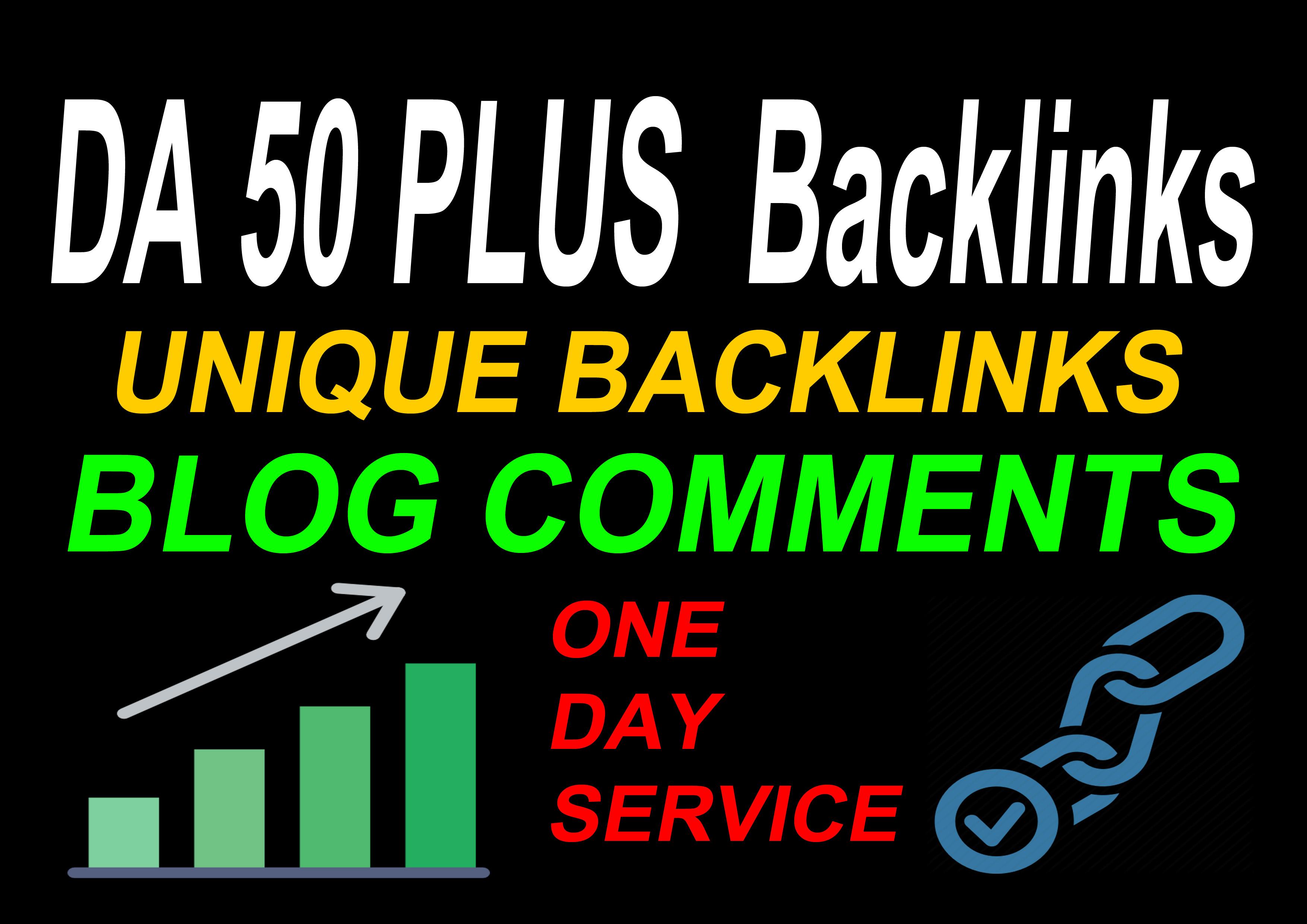 I Will Do 50 Plus DA With 42 Unique Backlinks