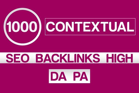 Create 1000 Contextual SEO Tiered Backlinks For Website Ranking High DA PA
