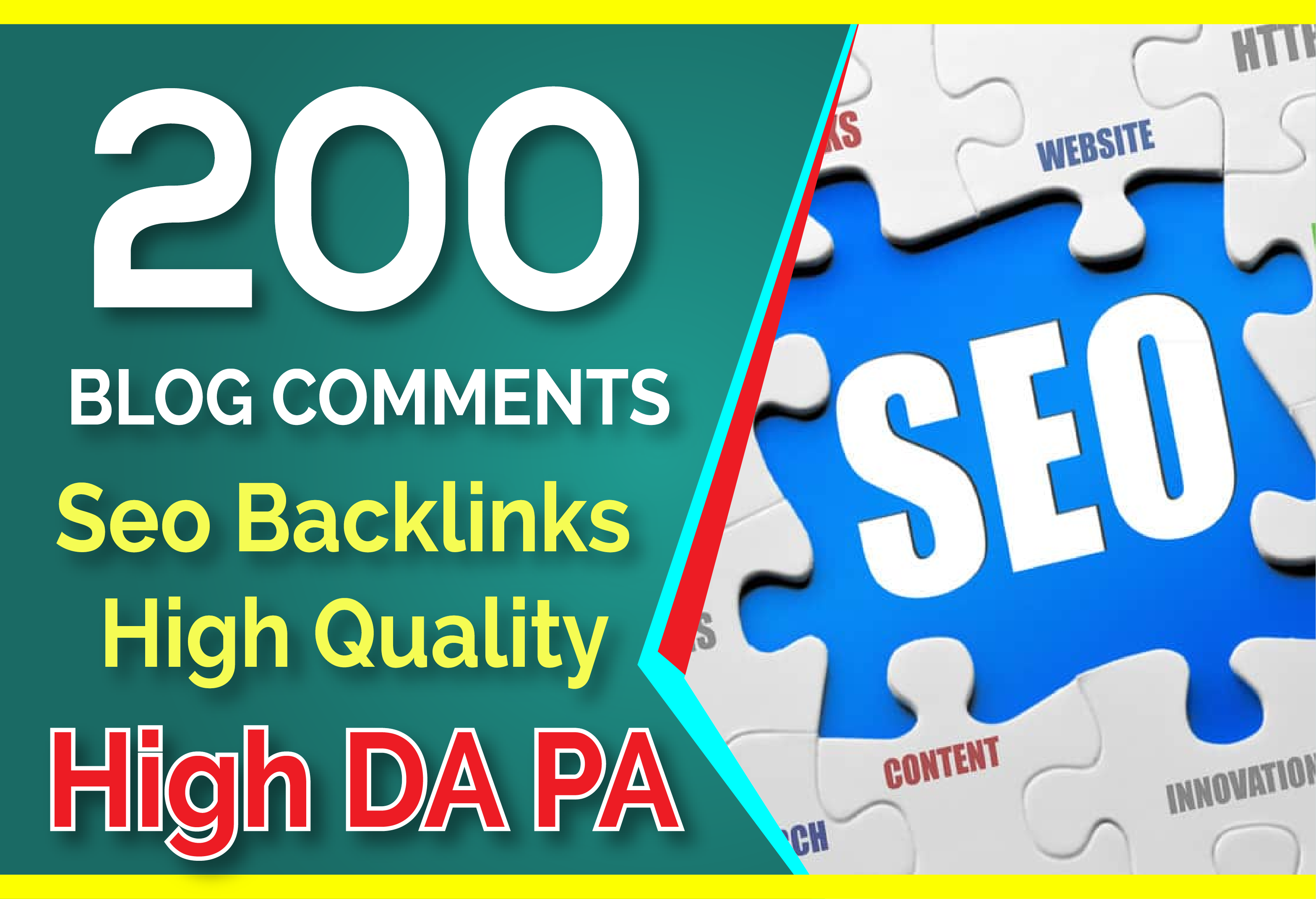 do 200 blog comments seo backlinks on high da pa