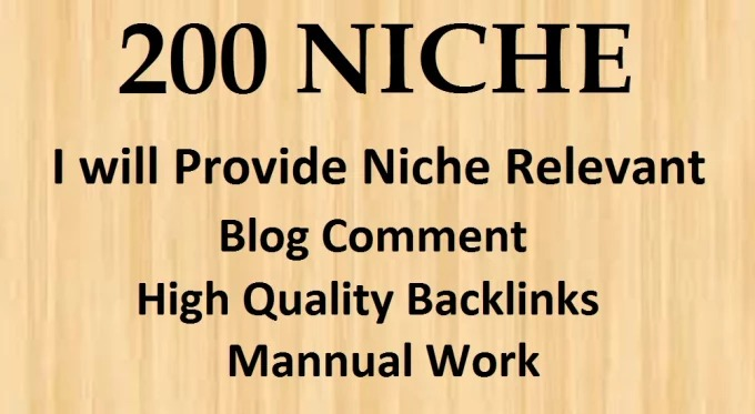 200 Niche Relevant blog C0mments Manually Hand Written With low obl