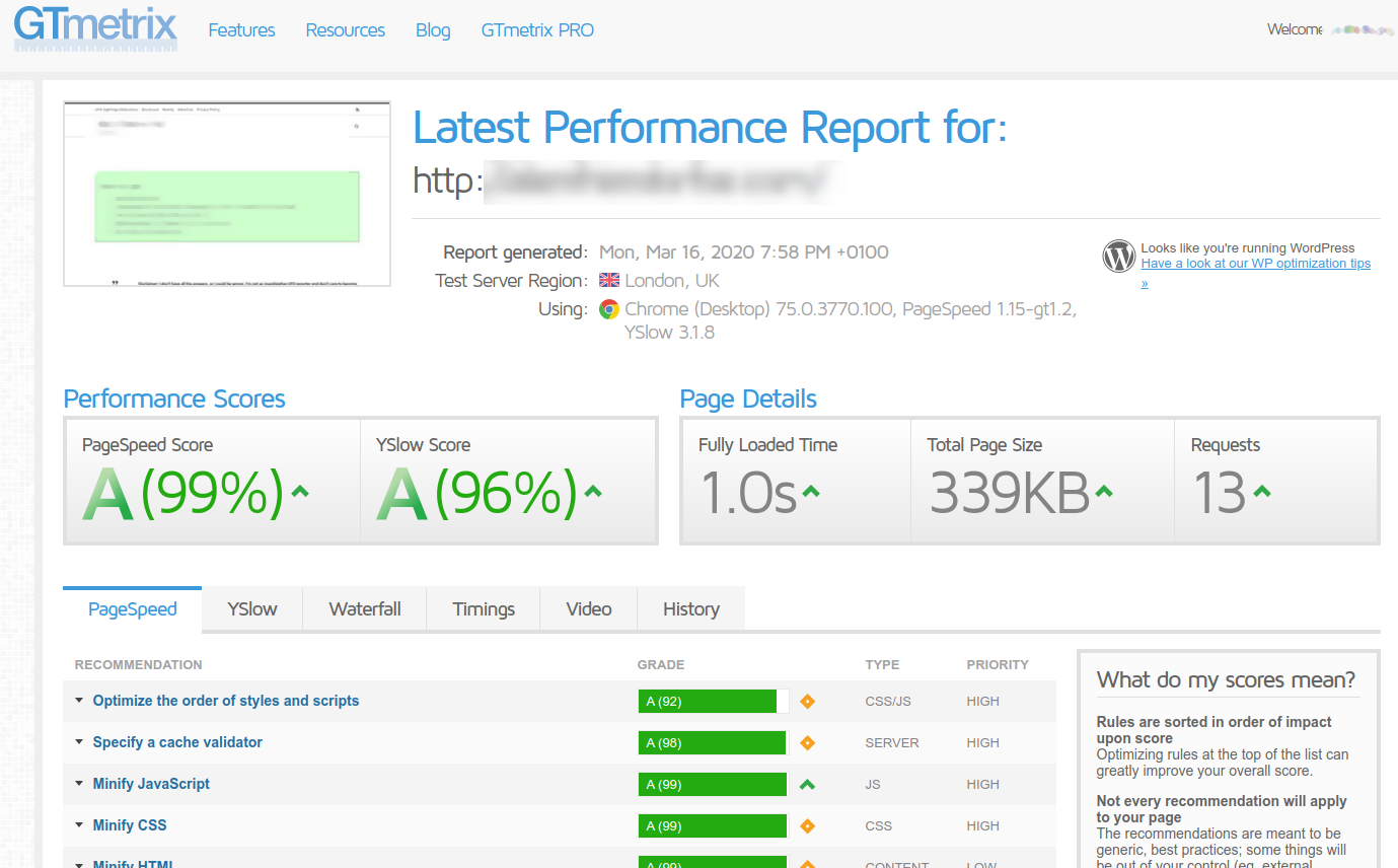 Fast Loading Websites Better speed scores for Visitors,  Google PageSpeed Insights,  GTmetrix