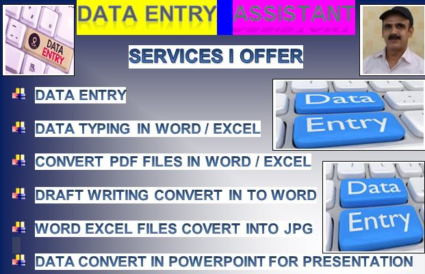 Data Entry Typing Data within 2 hours 5 pages