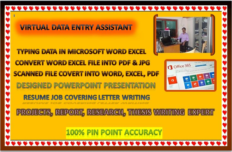 Data Entry Typing Data Virtual Assistant