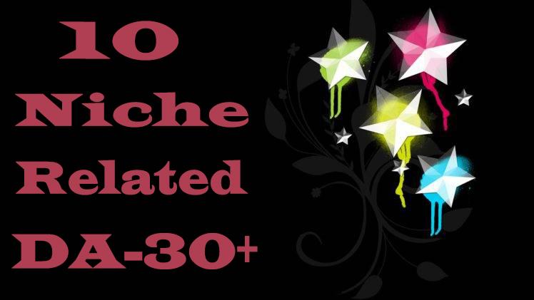 I will do 10 Unique Niche Relevant Backlinks DA-30+ With Related Content