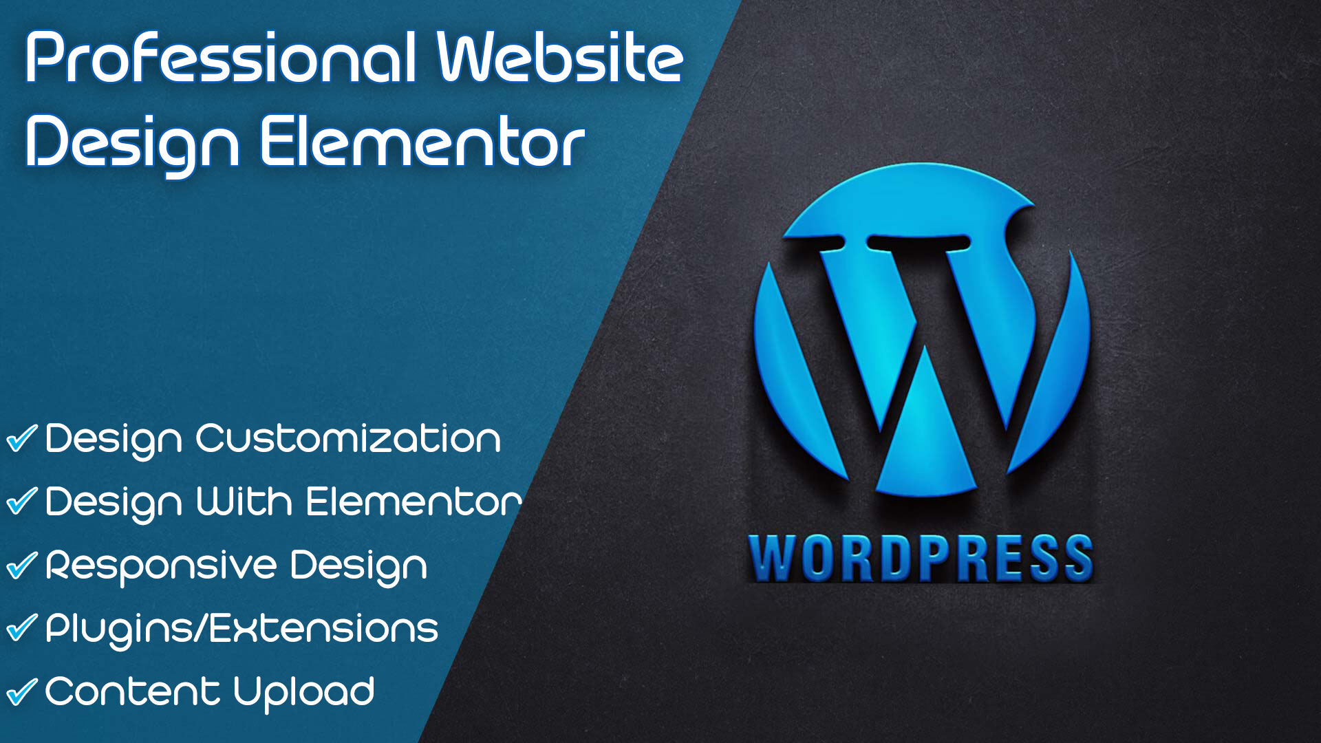 I will create professional WordPress website for business design With Elementor