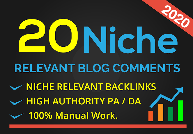 I will do 20 niche revelent blog comment