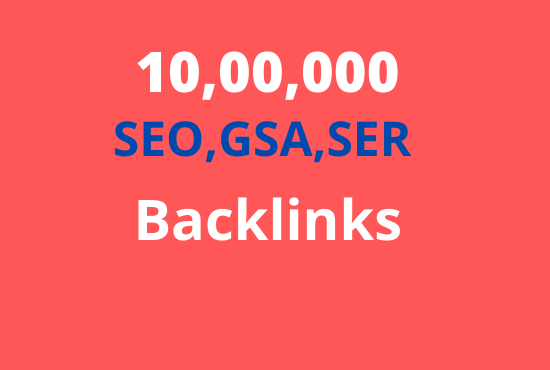 I will build 10, 00,000 dofollow backlinks for boost ranking