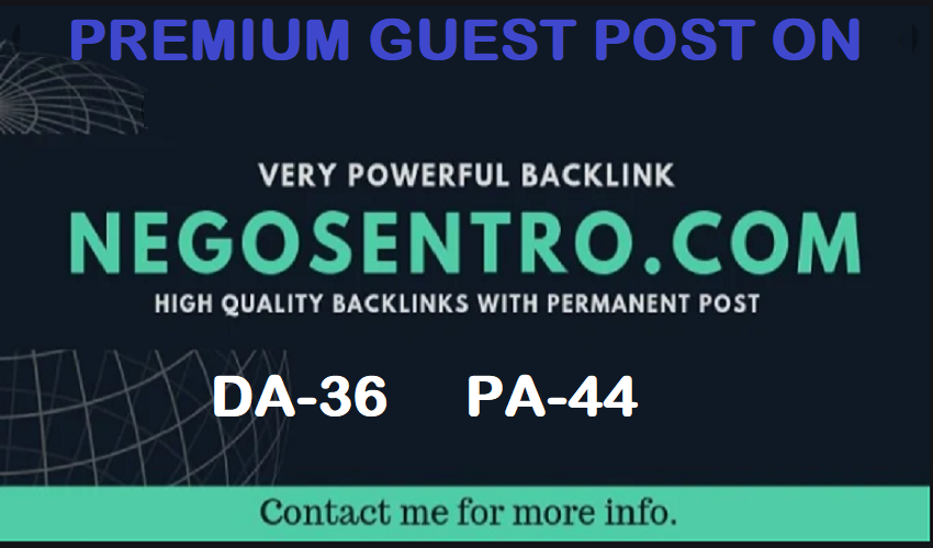 Write and Publish A Guest Posts on negosentro. com