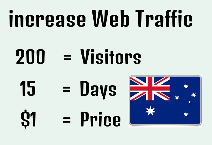 I will drive unlimited targeted traffic from Australia to your Blog, Site or product