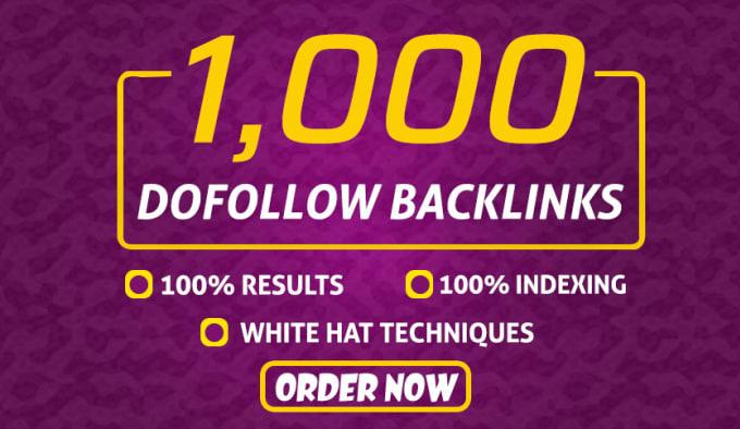 I will provide 1000 Do-follow SEO link building for google ranking