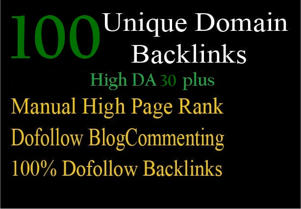 I will 100 unique domain blog comments