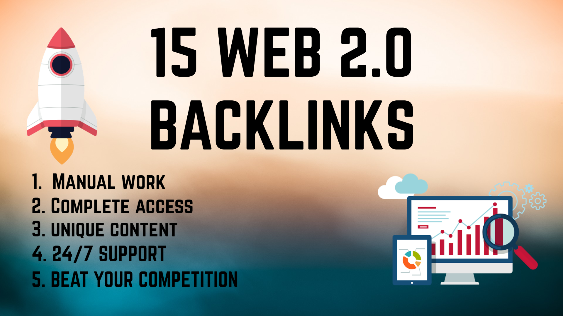 Create 15 web 2.0 backlinks for your site