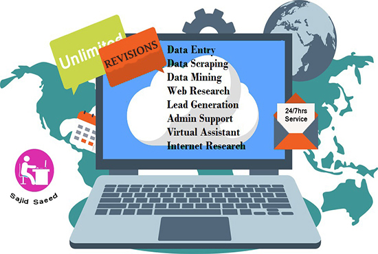 I will do data entry related all the work at time