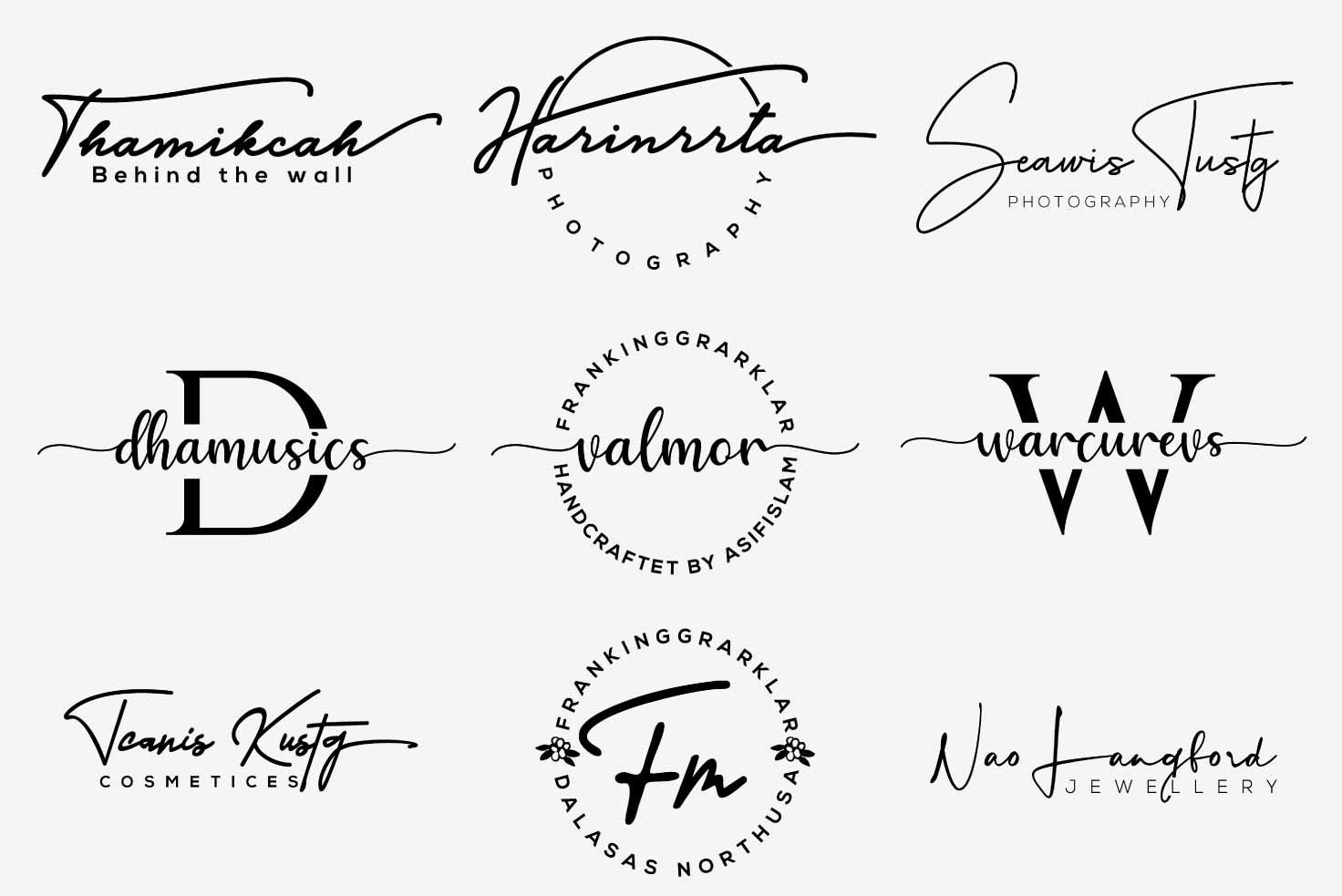 I will design signature logo in 1 day