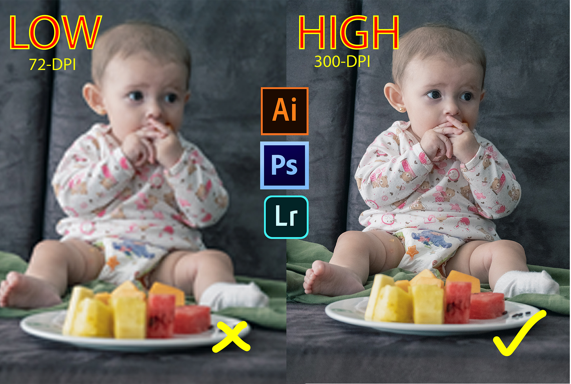 Convert low resolution photo to high resolution