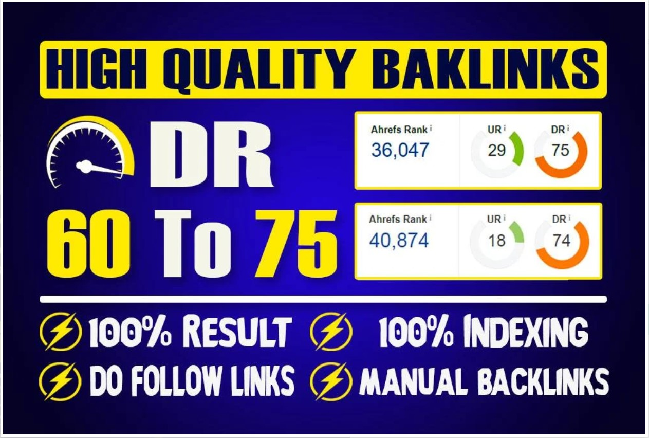 15 Manual HIGH DR 60 to 75 PBN Backlinks
