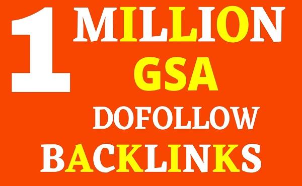 1 million GSA SER tier1 SEO Authority Backlinks For Your Websites Or Youtube