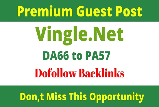 Write And Publish Guest Post On Vingle. net
