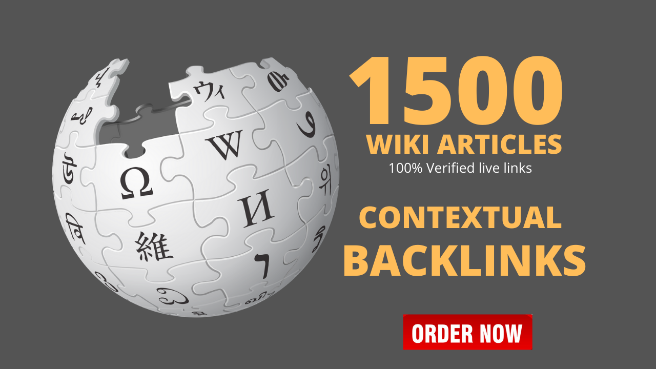 1500 High Authority Wiki Contextual Backlinks To Boost Website Rankings