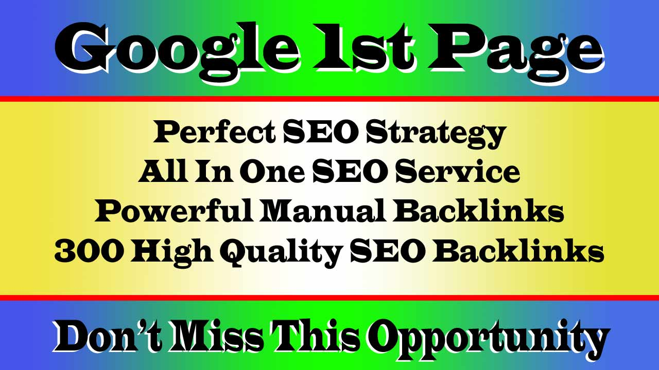 Rank on Google 1st page and high Traffic by our incredible Monthly Package