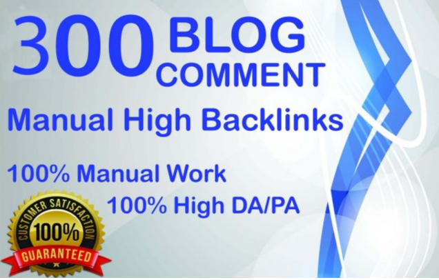 300 Dofollow Blog Comments Backlink High DA PA Website Ranking.