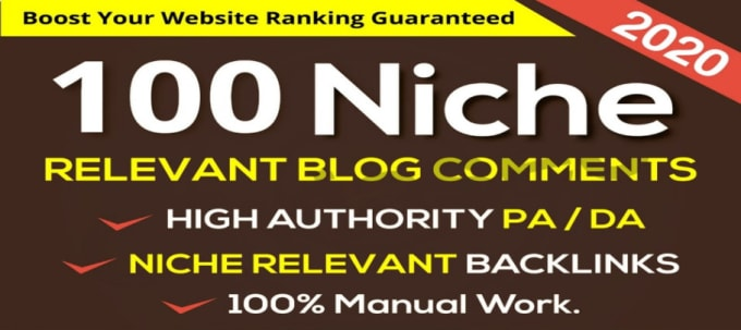 100 Niche Relevant Blog Comment Backlink DA PA CF TF Moz Autority