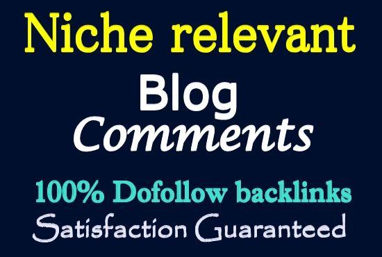 Provide 50 Niche Relevant Blog Comment Backlinks Low Obl Autority