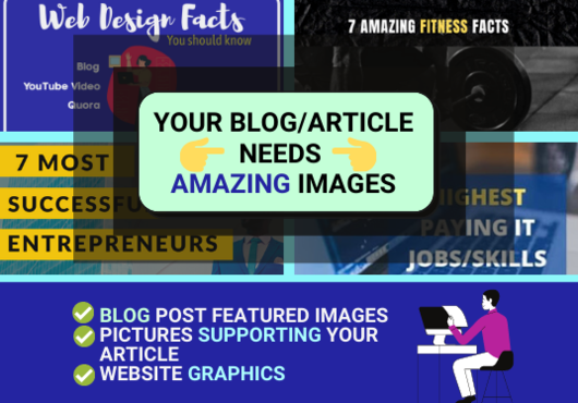 I will create Website Graphics,  Images for Blog posts,  article graphic