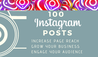 I will create 100 Instagram posts for your page/business
