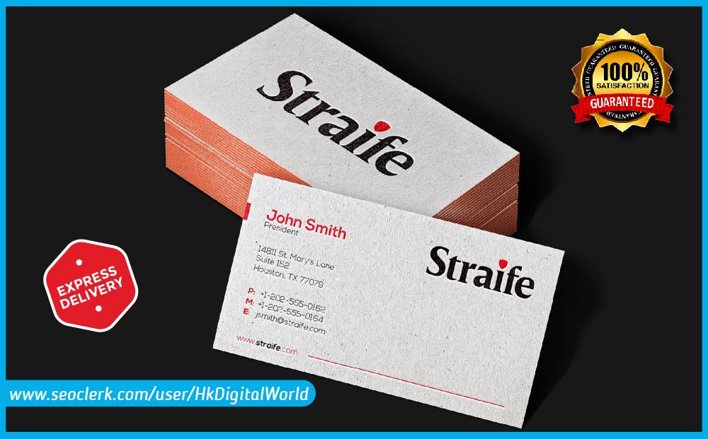 I will design modern unique professional business card designs