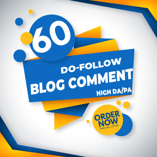 I will do 60 do follow blog comment high authority backlinks