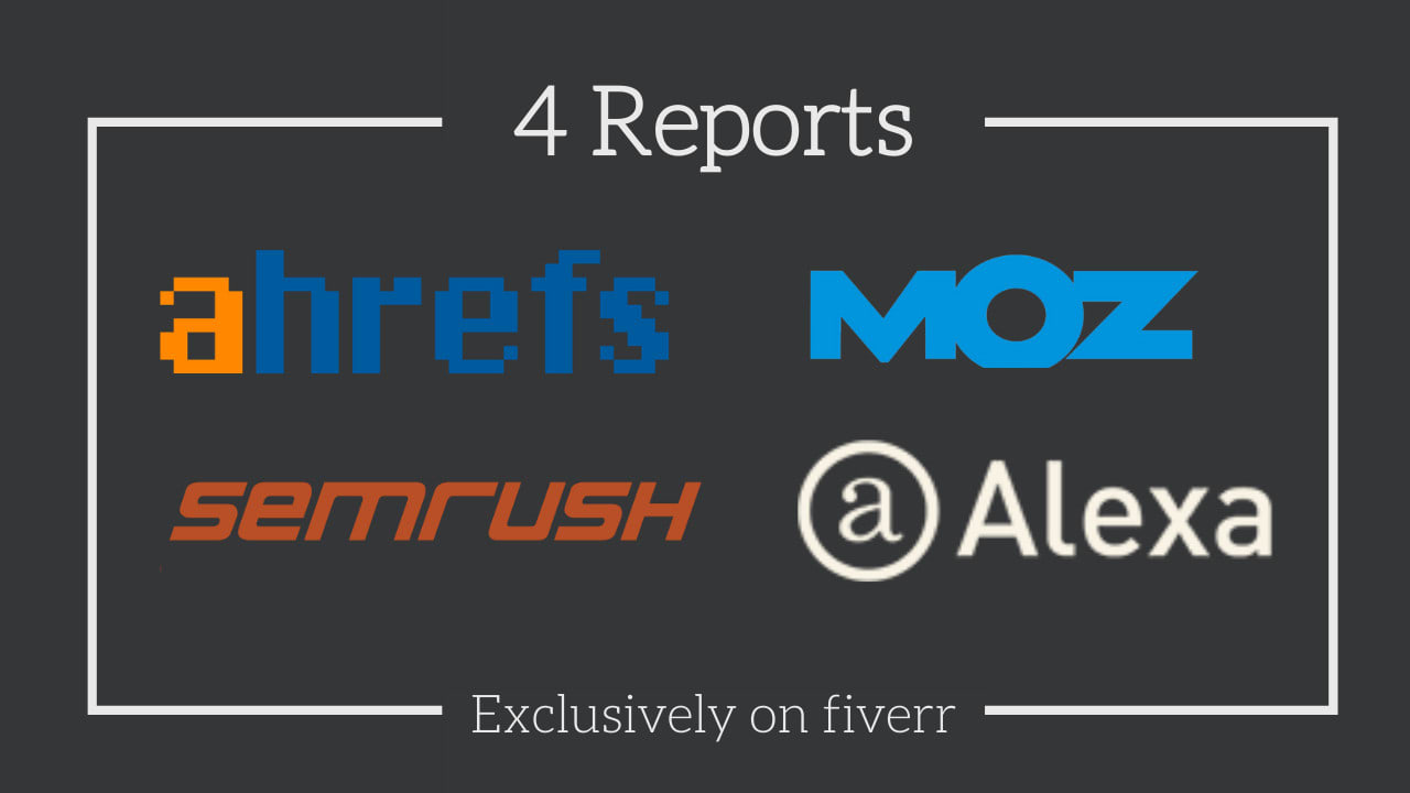 I will provide you ahref moz Semrush and alexa report for 1 website