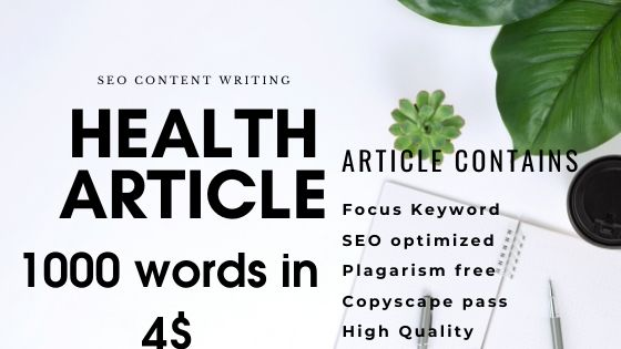 1000 word health and medical article