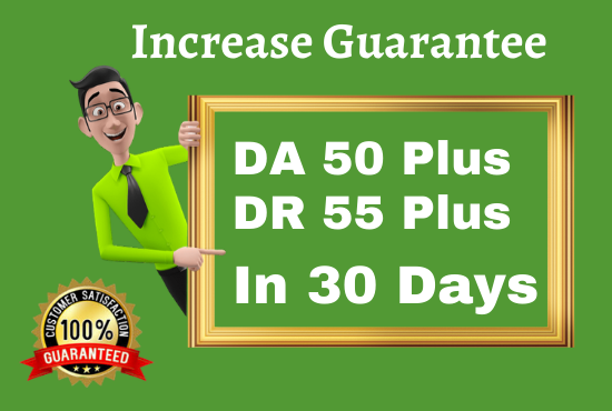 I Will Increase Your Website Domain Ratings DR50+ In 30 days