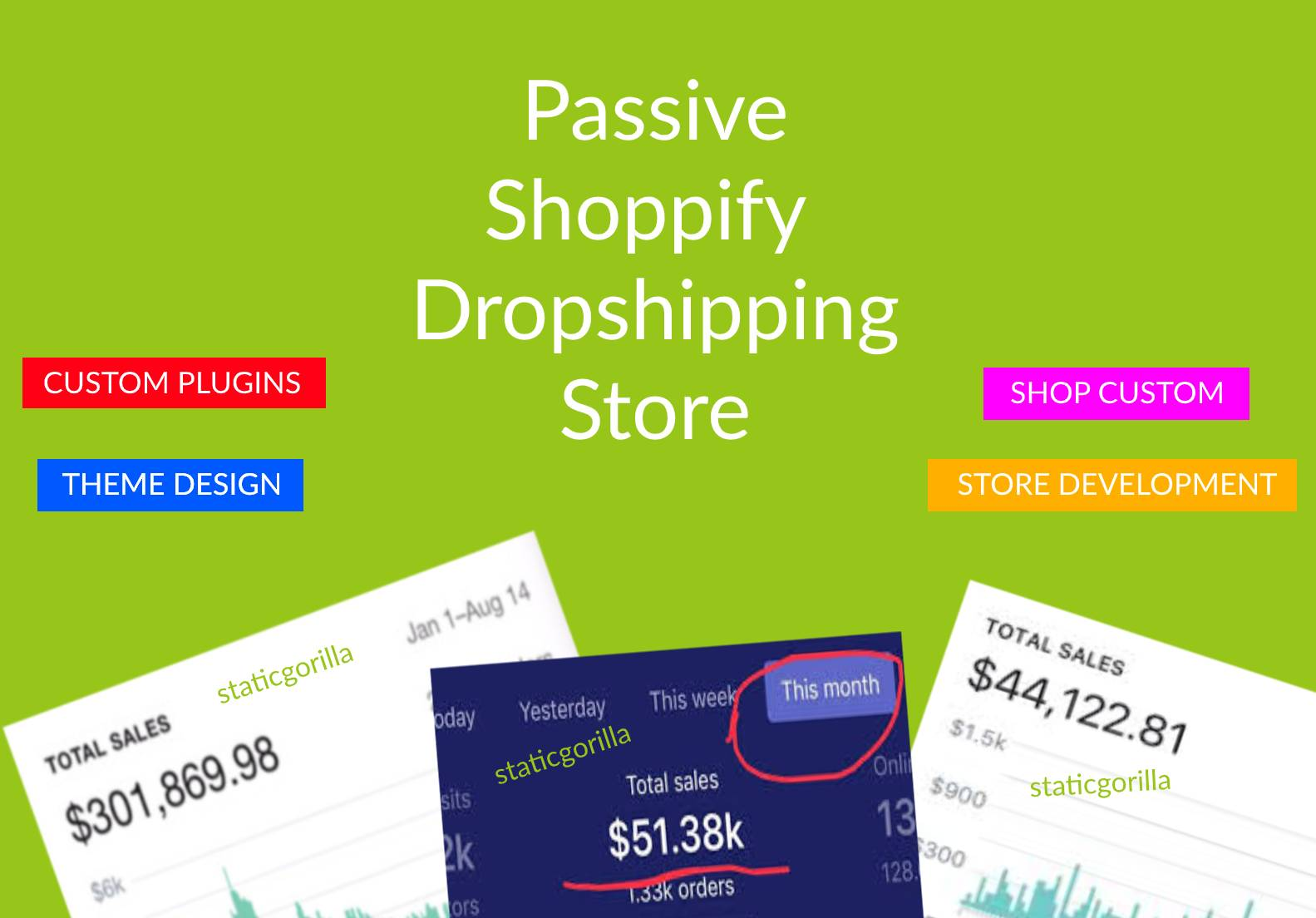 Get a well designed Passive E-Commerce/Online Shopping Dropshipping Store Ready in 5 days