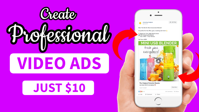 I will create dropshipping video ads