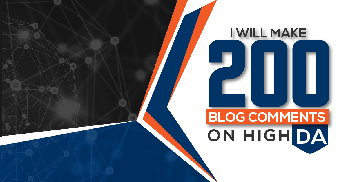 Build 200 Manually High PA/DA Blog Comments Backlinks