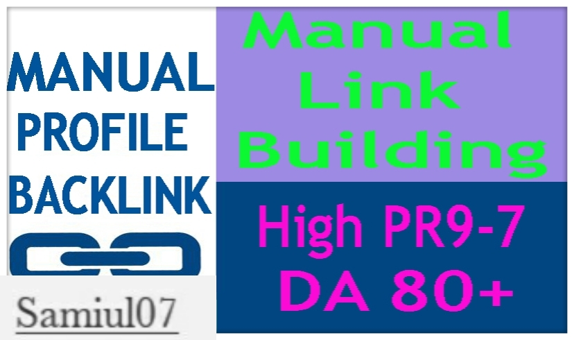 High Authority 20 Profile Backlink DA80+ PR9-7