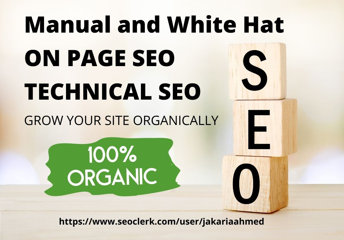 Manual and White Hat On page SEO and Technical SEO for your Website
