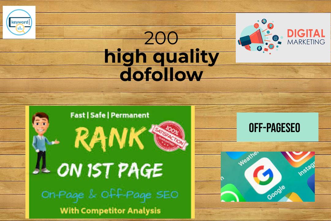 I Will MANUALLY Do 200 UNIQUE dofollow BackIinks on high domain authority