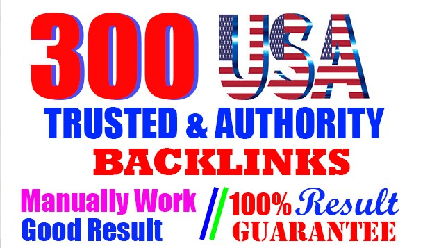 300 USA Seo Backlinks Google rank with high authority and trusted