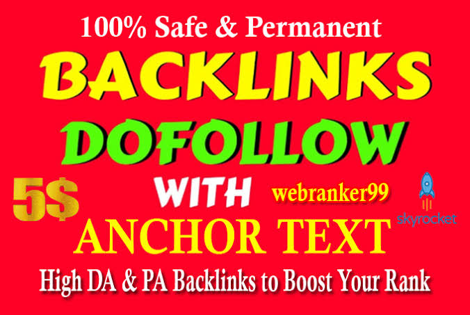Get 499+ dofollow backlink 100 Safe and Parmanent High Da Pa