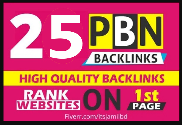 25 High Quality Permanent Dofollow HomePage PBN backlinks for 5