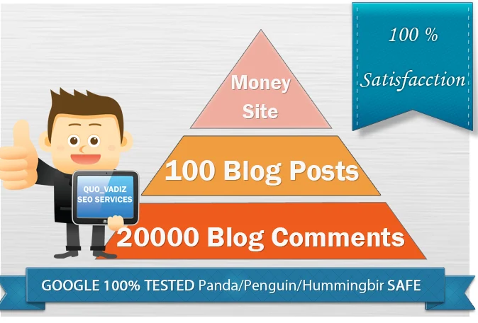 I will create a two tier seo campain with 100 blog posts and 20k scrapebox comments