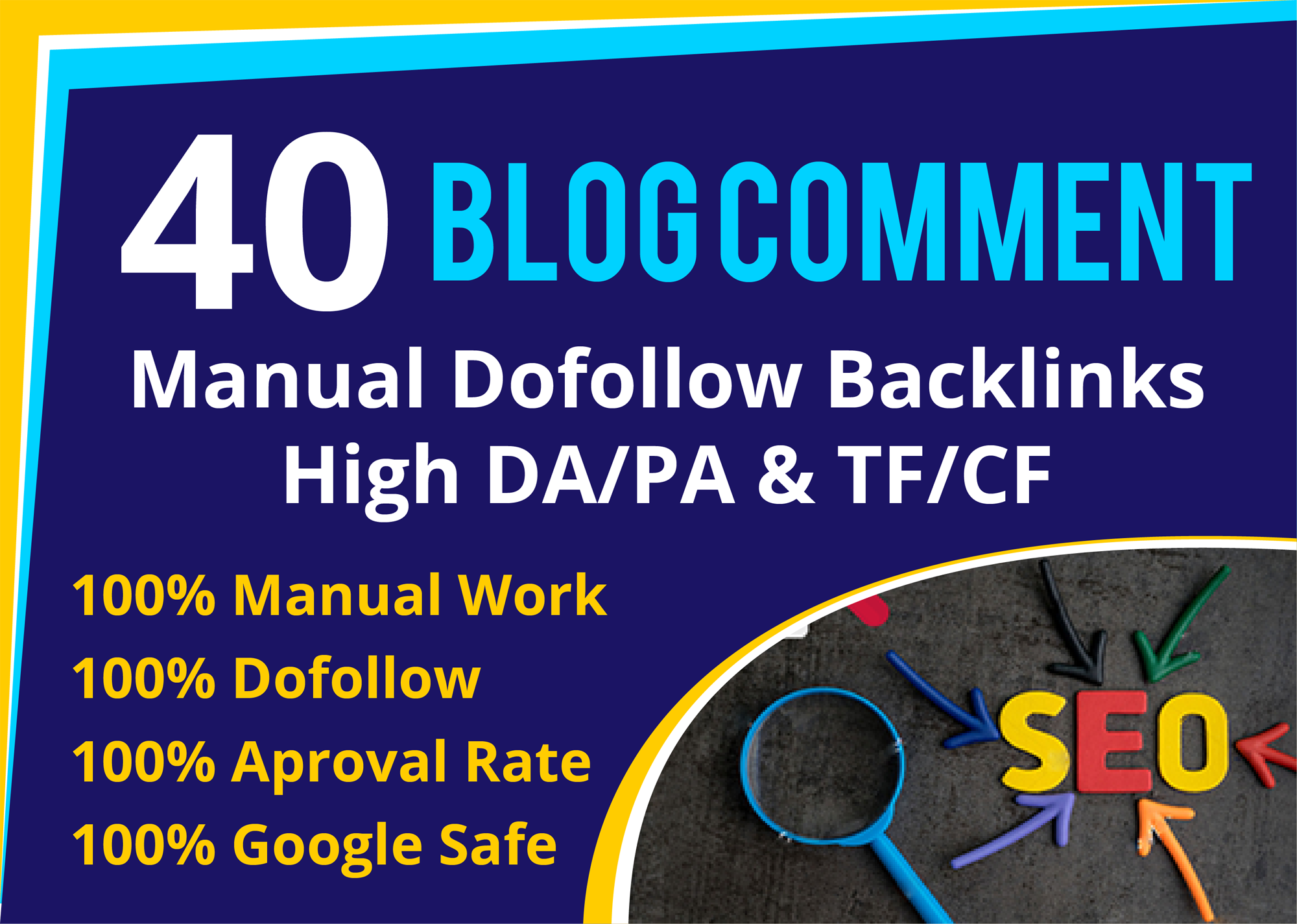 40 dofollow blog comment backlink high quality