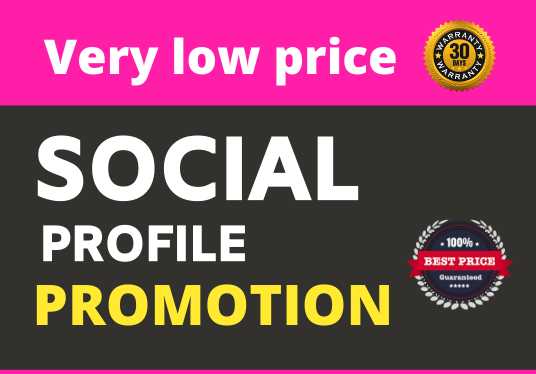 Social Profile Promotion Fast and 30 Day Refill