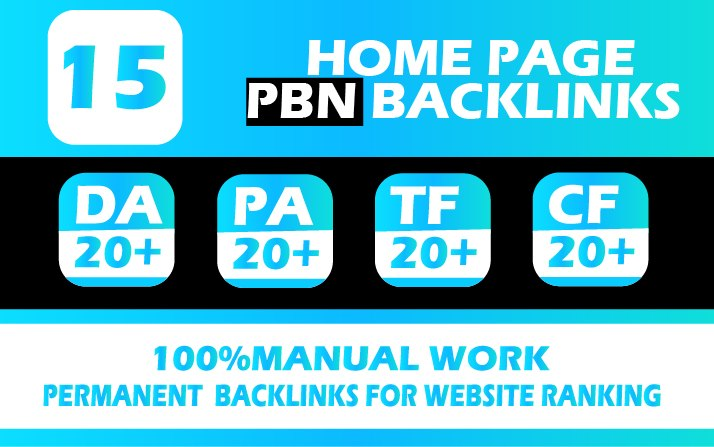 provide 15 pbn high authority dofollow backlinks for your website ranking
