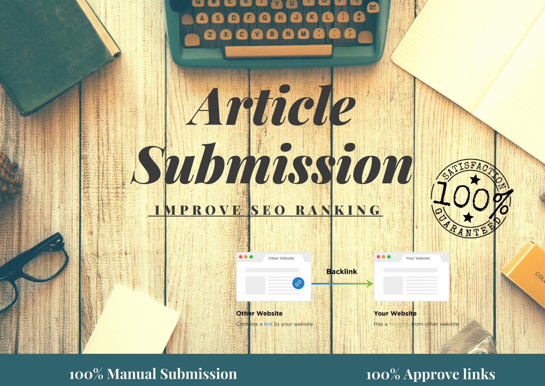 i will create 100 high quality article submission backlinks