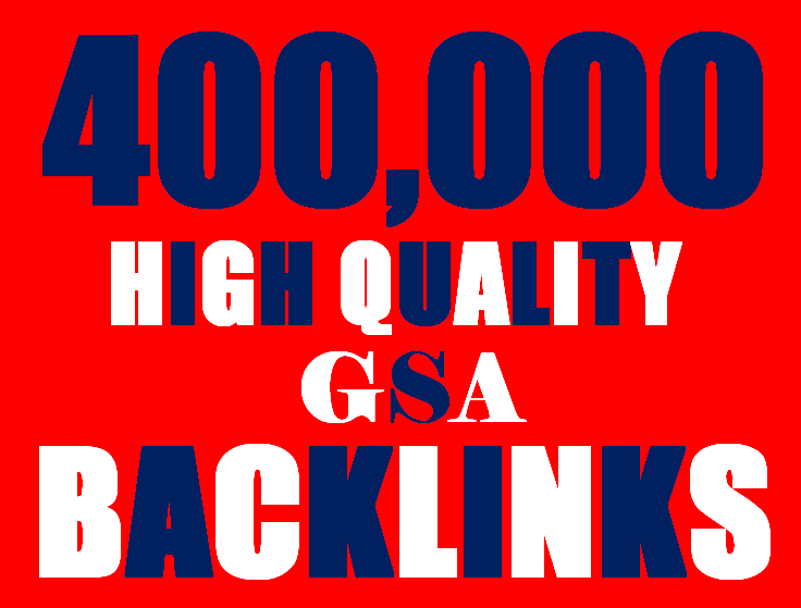 400K Backlinks campaign with GSA Ser for ranking
